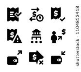 9 banking icons vector set.... | Shutterstock .eps vector #1104853418