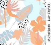 minimal summer trendy vector...   Shutterstock .eps vector #1104855455