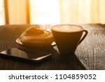 morning late arts coffe... | Shutterstock . vector #1104859052