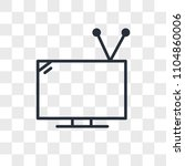 television with antenna vector... | Shutterstock .eps vector #1104860006