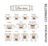 infographic coffee set. part 2. ...   Shutterstock .eps vector #1104860738