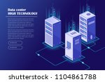 web hosting and big data... | Shutterstock .eps vector #1104861788