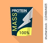 mass protein icon. flat...   Shutterstock .eps vector #1104864605