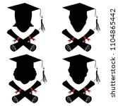 graduated people head with... | Shutterstock .eps vector #1104865442