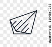 send vector icon isolated on... | Shutterstock .eps vector #1104867236