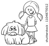 black and white cartoon... | Shutterstock .eps vector #1104875012