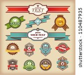 set of vintage styled labels ... | Shutterstock .eps vector #110487935