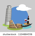 italian background with... | Shutterstock .eps vector #1104884558