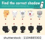 cute little cat find the... | Shutterstock .eps vector #1104885302