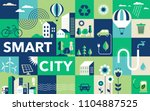 green city  smart city concept  ... | Shutterstock .eps vector #1104887525