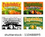 vintage vegetable labels | Shutterstock .eps vector #110488895