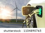 ev car or electric car at... | Shutterstock . vector #1104890765