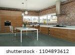 3d illustration of white modern ... | Shutterstock . vector #1104893612