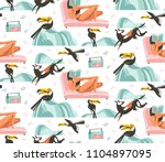hand drawn vector abstract... | Shutterstock .eps vector #1104897095