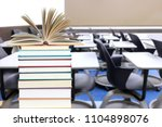 nobody in empty classroom for... | Shutterstock . vector #1104898076