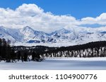 Snow Covered Mountains In Altai