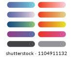 color full modern web button... | Shutterstock .eps vector #1104911132