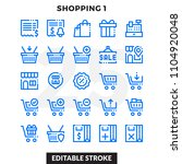 dashed outline icons pack for... | Shutterstock .eps vector #1104920048