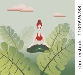 vector illustration of a woman... | Shutterstock .eps vector #1104926288