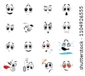set of various face emoji icons.... | Shutterstock .eps vector #1104926555
