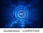 abstract futuristic technology... | Shutterstock .eps vector #1104927242