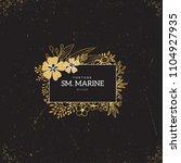 vector gold logo template.... | Shutterstock .eps vector #1104927935