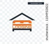lodging vector icon isolated on ...   Shutterstock .eps vector #1104932822