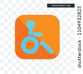 handicapped vector icon... | Shutterstock .eps vector #1104932825