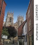 Small photo of York Minster from Precentor's Court, Yorkshire, UK