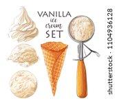 vector set of watercolor... | Shutterstock .eps vector #1104936128