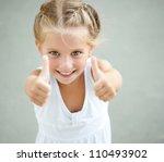 portrait of a beautiful liitle... | Shutterstock . vector #110493902