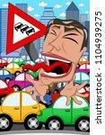 caricature businessman... | Shutterstock .eps vector #1104939275