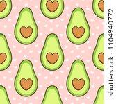 Pattern With Avocado  A Bone I...