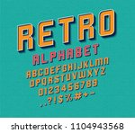 vector of retro font and... | Shutterstock .eps vector #1104943568