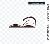 page turn vector icon isolated... | Shutterstock .eps vector #1104945026