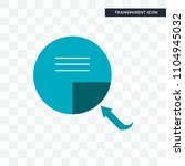 page turn vector icon isolated... | Shutterstock .eps vector #1104945032