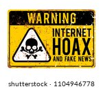 funny warning signs. internet... | Shutterstock .eps vector #1104946778