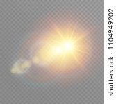 vector transparent sunlight... | Shutterstock .eps vector #1104949202
