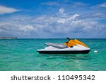 Jet Ski Moored In The Caribbea...