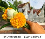 go to the temple for practice... | Shutterstock . vector #1104955985