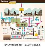 set of factory infographics ... | Shutterstock .eps vector #110495666
