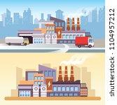 industrial factory scene in 2d... | Shutterstock .eps vector #1104957212