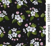 seamless pattern with apple... | Shutterstock .eps vector #1104958835