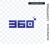 360 degree vector icon isolated ...   Shutterstock .eps vector #1104959066