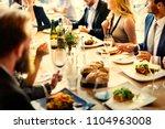 group of diverse friends having ... | Shutterstock . vector #1104963008