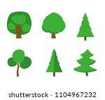 vector cartoon trees on white... | Shutterstock .eps vector #1104967232