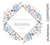 vector floral design card....   Shutterstock .eps vector #1104970295
