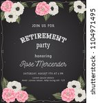 retirement party invitation.... | Shutterstock .eps vector #1104971495