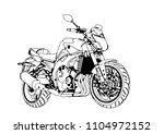 sketch of a sport motorcycle... | Shutterstock .eps vector #1104972152