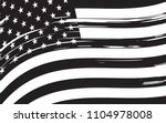 black and white american flag... | Shutterstock .eps vector #1104978008